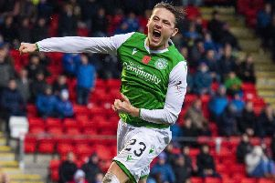Scott Allan is having an impressive season at Hibs and has kicked on since the arrival of new manager Jack Ross. Picture: Alan Harvey/SNS