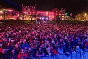 Revellers enjoy last year's concert in the Gardens ' but how many of them came from Scotland? (Picture: Ian Georgeson)