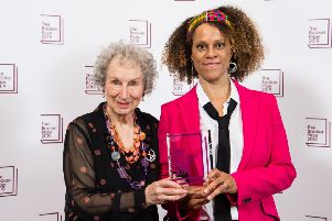 Joint winners Margaret Atwood and Bernardine Evaristo during 2019 Booker Prize Winner Announcement photocall at Guildhall, London, 14 October 2019 PIC: Jeff Spicer/Getty Images