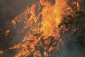 Scores of fires are burning out of control across Australia. Picture: AP
