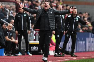 Daniel Stendel recognises Hearts' ambition to be one of the top clubs in Scotland and is determined to climb the Premiership table. Picture: SNS.