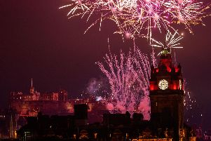 The midnight moment fireworks display above Edinburgh Castle thrilled tens of thousands of revellers throughout the city.