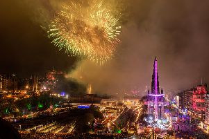Revellers from 87 countries were said to have travelled to Edinburgh for its 27th annual Hogmanay festival.
