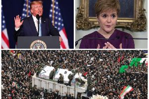 """Nicola Sturgeon descrived Donald Trump's actions as """"reckless"""" as Iranians poured onto the streets to mourn  Qasem Soleimani. Picture: Getty"""
