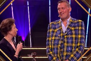 Doddie Weir is presented with the BBC Sports Personality of the Year Helen Rollason Award  (BBC)