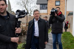 Centre of attention: Sir Keir Starmer, seen as a moderate candidate, has won backing from the left in the shape of the union Unison. Picture: Aaron Chown/PA Wire