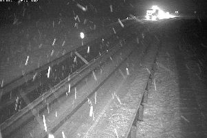 Snow has already hit roads in the Borders as Edinburgh is predicted sleet later this morning.