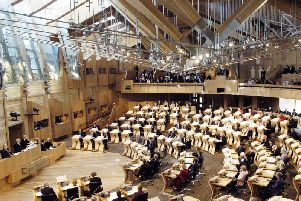 The Scottish's Parliament's weekly First Ministers Questions session was briefly halted