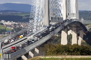 Queensferry Crossing traffic increased by one  million to 27.3m in the year to last October. Picture: Alistair Linford