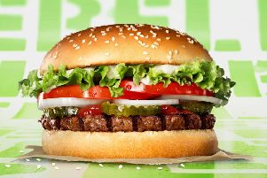 Burger King's new plant-based version of its Whopper (Picture: Burger King/PA Wire)