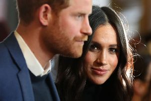 The Duke and Duchess of Sussex during a reception for young people at the Palace of Holyroodhouse in 2018. Picture: PA