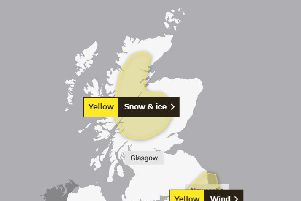 The yellow snow and ice warnings follow storm Brendan. Picture: Met Office