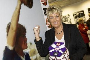 Rose Reilly at the Scottish Football Museum's Hall of Fame. Picture: SNS
