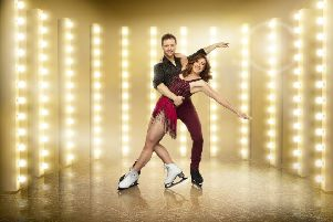 Libby Clegg with her Dancing On Ice partner Mark Hanretty. Photo: itv.com