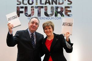 The then First Minister Alex Salmond and Nicola Sturgeon ahead of the 2014 independence referendum (Picture: Andrew Milligan/PA Wire)