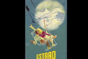 Gstaad by Martin Peikert (1901-1975) will go under the hammer at the Edinburgh Ski Sale at Lyon and Turnbull