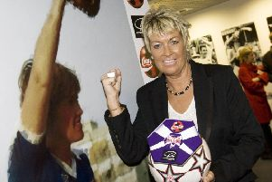 Rose Reilly at the Scottish Football Museum's Hall of Fame in 2007