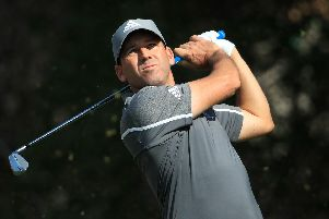 Sergio Garcia, pictured practising for this week's Abu Dhabi HSBC Championship, is returning to Saudi Arabia in a fortnight's time