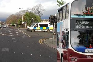 Police have called for witnesses to the incident, which happened aboard a bus at the junction between Queen Street and Queen Street Gardens East. Picture: Google / JPI