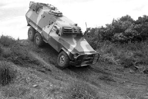 One of the firm's Hotspur Hussar armoured personnel carriers. Picture: Stanley Hunter