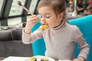 Research shows that up to 86 per cent of children are actively asking to try new foods they haven't tried previously, like sushi. Picture: contributed