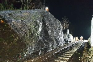 Work has begun on the line. Picture: Network Rail