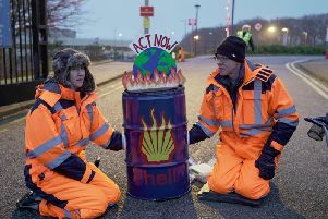 Protesters from climate campaign group Extinction Rebellion Scotland, seen here demonstrating against fossil fuel extraction at Shell HQ in Aberdeen, have confirmed they will target the UN Cop26 summit in Glasgow