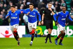 James Tavernier (far lefT) faces up to two weeks on the sidelines