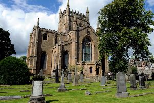 It would take one hour 23 minutes to walk from Crossgates to this fine medieval abbey in the not-so-nearby city of Dunfermline, according to Google maps (Picture: Lisa Ferguson)