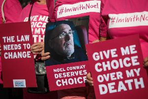 Dignity in Dying campaigners support a legal challenge to a law banning assisted dying (Picture: Jack Taylor/Getty Images)