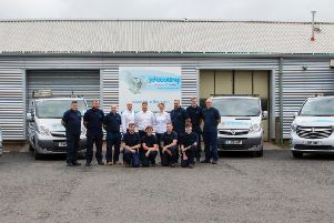 Since 2012 the firm has had an official site in Kelty, led by Hynd (centre). Picture: Photography by Gillian.