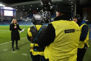 Demands from broadcasters meant that the Scottish Cup fourth round kicked off on Friday night, with Premier Sports showing the Rangers v Stranraer tie. Picture: Andrew Milligan/PA