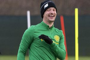 Leigh Griffiths will start for Celtic against Partick Thistle in the Scottish Cup. Picture: Craig Foy / SNS