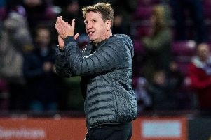 Daniel Stendel watched Hearts beat Airdrie 5-0 in the Scottish Cup at Tynecastle