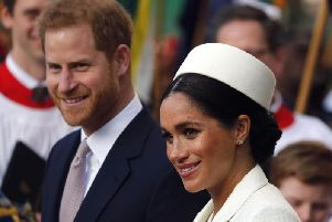 Harry has said he and Meghan have no other option but to stand down    picture: Frank Augstein Associated Press