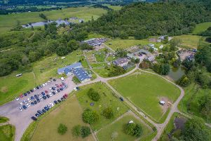 An aerial view of Auchingarrich Wildlife Park, which is located in on the outskirts of the village of Comrie. Picture: Contributed