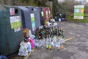 Not everything can be recycled like these glass bottles and manufacturers need to do more (Picture: Steve Parsons/PA Wire)