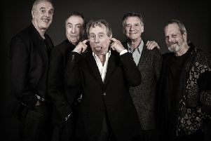 Surviving former Monty Python stars have paid tribute to member Terry Jones (centre). Picture: PA