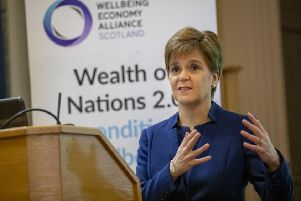 Nicola Sturgeon delivered the keynote address to the Wealth of Nations 2.0 Conference at Edinburgh University. Picture: WPA Pool/Getty Images