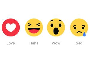 Users can choose from seven emotions, which are very similar to Facebook's feature on Messenger. Picture: PA