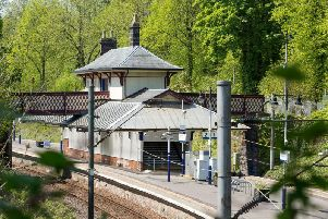Maxwell Park station on the south side of Glasgow. Picture: RHT/Paul Childs