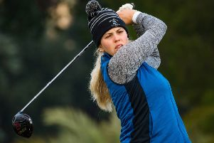 Alison Muirhead continued her fine form in the second round of the Ladies European Tour Qualifying School final in Spain