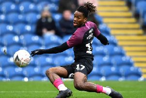 Ivan Toney in action for Peterborough United