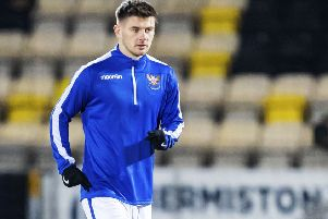 St Johnstone's Matty Kennedy could seal his move to Aberdeen in time to face St Mirren. Picture: Roddy Scott / SNS