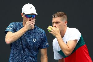 Jamie Murray and Neal Skupski are playing together at the Australian Open. Picture: Mike Owen/Getty Images