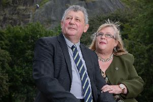 Above, John and Tina Wren were helped by the association. Picture: Phil Greig