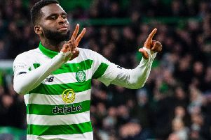 Odsonne Edouard celebrates his second and Celtic's third in the Hoops' 3-0 win over Ross County