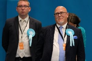 Brexit Party MEP's John Tennant (L) and Brian Monteith. Picture: Ian Forsyth/Getty Images