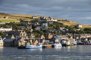 Stromness village in the Orkney islands