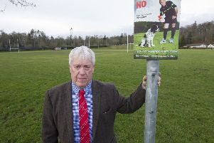 Councillor Tom Weatherston at Croft Park in Kelso.